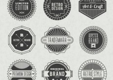 Free vector Badges collection in retro style #2995