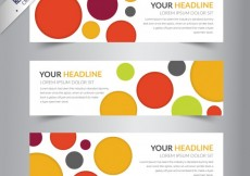 Free vector Banners template with colorful circles #2834