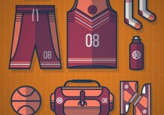 Free vector Basketball equipment #3248