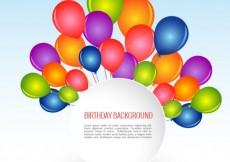 Free vector Birthday background with colorful balloons #3644