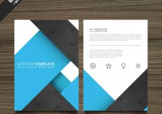 Free vector Blue and black brochure #3486