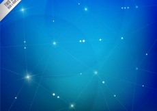 Free vector Blue background in polygonal style #196