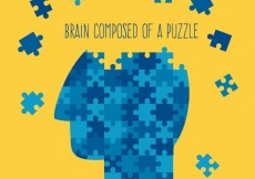 Free vector Brain composed of a puzzle #681