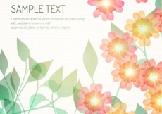 Free vector Bright flowers template #482