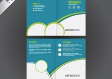 Free vector business booklet #2199