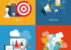 Free vector Business infographic with icons #2749