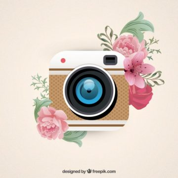 Free vector Camera button in retro style #3157