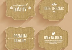 Free vector Cardboard labels #2790