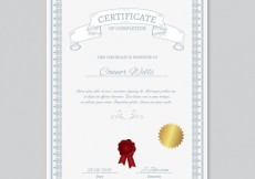 Free vector Certificate of completion #1478