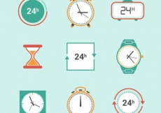 Free vector Clock icons #2633