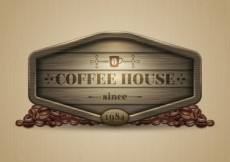 Free vector Coffee house banner #3835