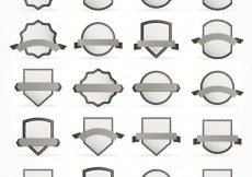 Free vector Collection of grey badges #3433