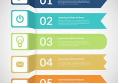 Free vector Colored banners infographic #3291