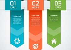 Free vector Colored infographic banners #2873