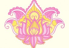 Free vector Colored ornamental flower #2106