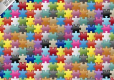 Free vector Colored puzzle pieces background #1650