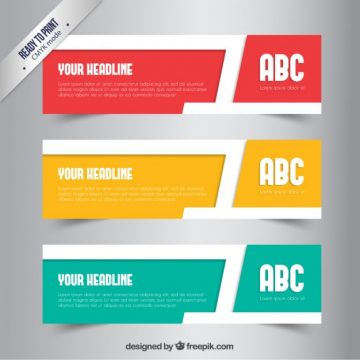 Free vector Colorful abstract banners #223