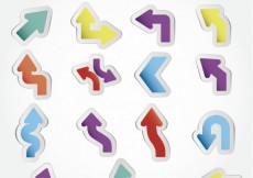 Free vector Colorful arrow stickers #2452
