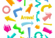 Free vector Colorful arrows collection #562
