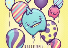 Free vector Colorful balloons illustration #268