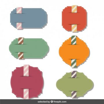 Free vector Colorful cute labels collection #3958