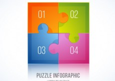 Free vector Colorful puzzle infographic #3492