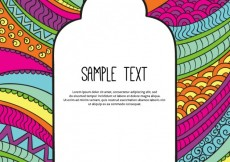 Free vector Colorful template in abstract style #2091