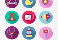 Free vector Colorful toys collection #2215