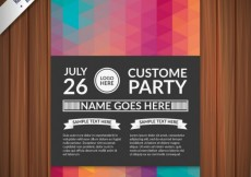 Free vector Costome party poster #110