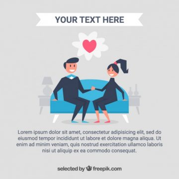 Free vector Couple in love template #524