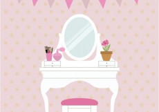 Free vector Cute chest of drawers #3474
