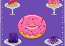 Free vector Delicious sweets collection #2385