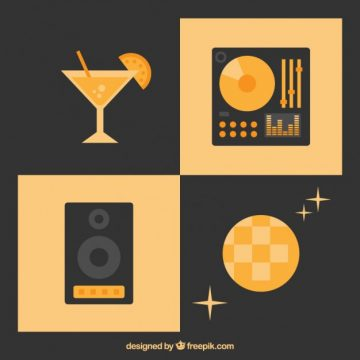 Free vector Disco party icons #3167
