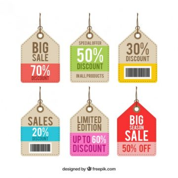 Free vector Discount tags #1348