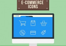 Free vector E commerce icons #2811