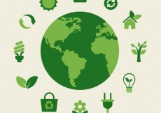 Free vector Eco earth and green icons #640