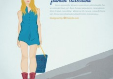 Free vector Fashion collections template #2802