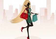 Free vector Fashion girl with long hair #3791