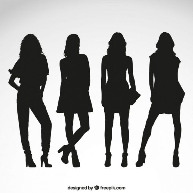 Free vector female silhouettes #62