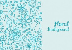 Free vector Floral background in blue tones #1115