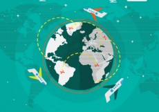 Free vector Flying around the world #581
