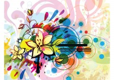 Free vector Free abstract floral illustration #3657