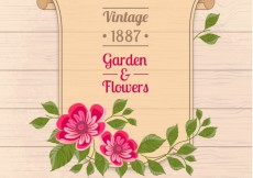 Free vector Garden and flowers poster #3439