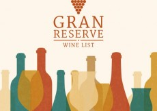 Free vector Grand reserve wine list #3727