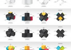 Free vector Graphs with cubes #1391