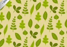 Free vector Green leaves pattern #641