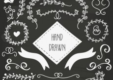 Free vector Hand drawn ornaments #1109