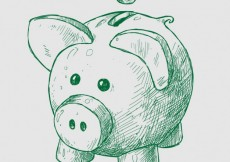 Free vector Hand drawn piggybank #1007