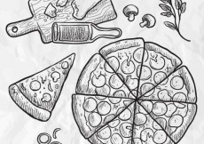 Free vector Hand drawn pizza #3043