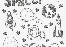 Free vector Hand drawn space elements #900